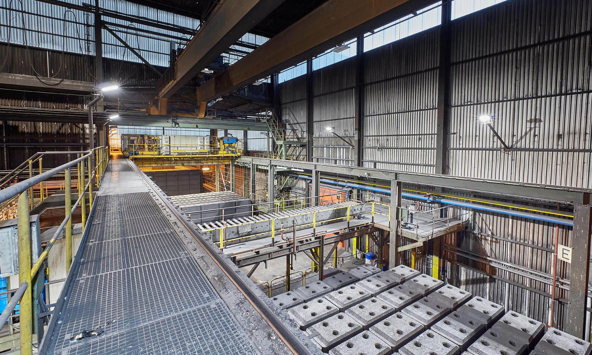 Beleuchtungslösung einer Industriehalle