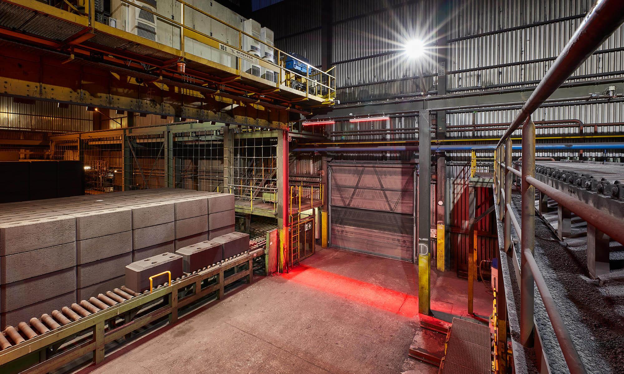 Beleuchtungslösung Referenz Industriehalle
